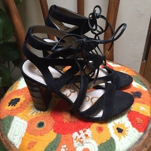 Sam Edelman Yardley black 8.5 M  lace up heels